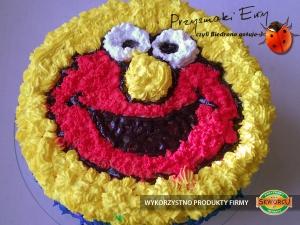 Tort  Elmo śmietanowo-truskawkowy z serkiem mascarpone